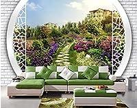 XLI-You 3D壁紙 3D壁紙 カスタム 壁画 ステッカー 3D 風景 庭 壁 背景 壁紙 3Dステッカー 壁画 XLi-You45282-6961