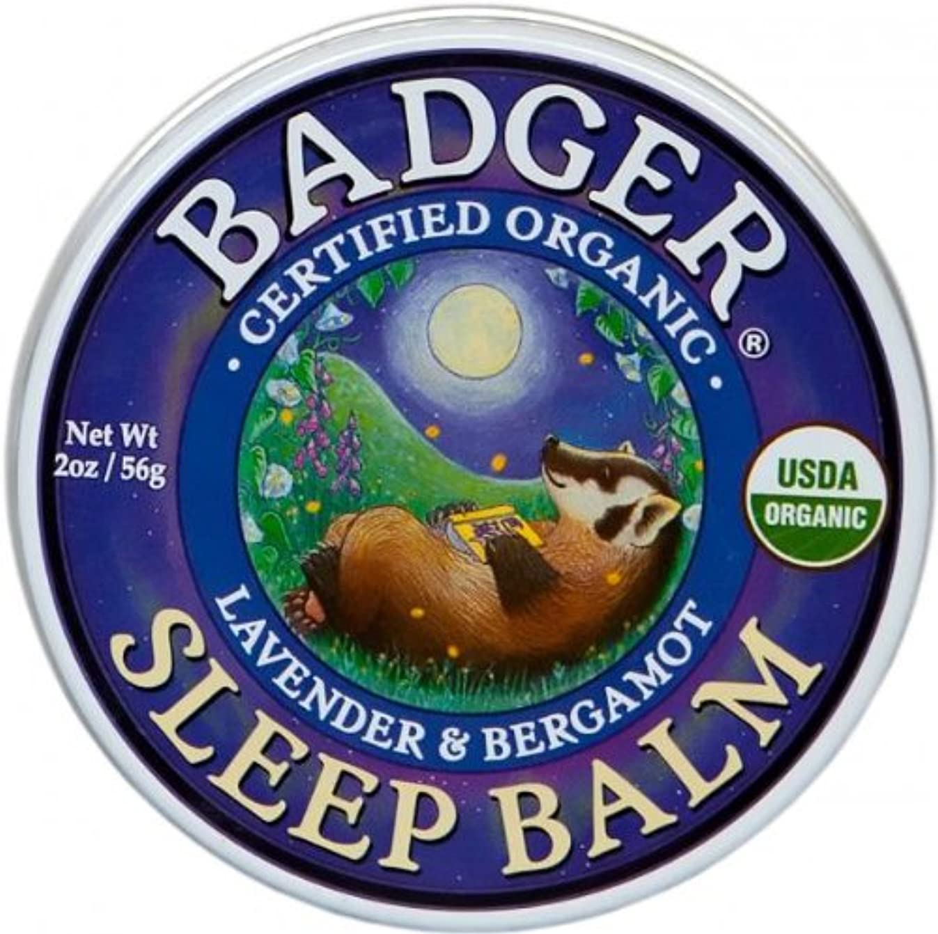 メインパドル辞書Badger バジャー オーガニック スリープバーム おやすみ前アロマクリーム【大サイズ】 56g【海外直送品】【並行輸入品】