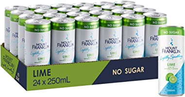 Mount Franklin Lightly Sparkling Water Lime Mini Cans 24 x 250 mL