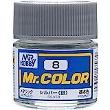 GSIクレオス Mr.カラー シルバー (銀) メタリック 10ml 模型用塗料 C8