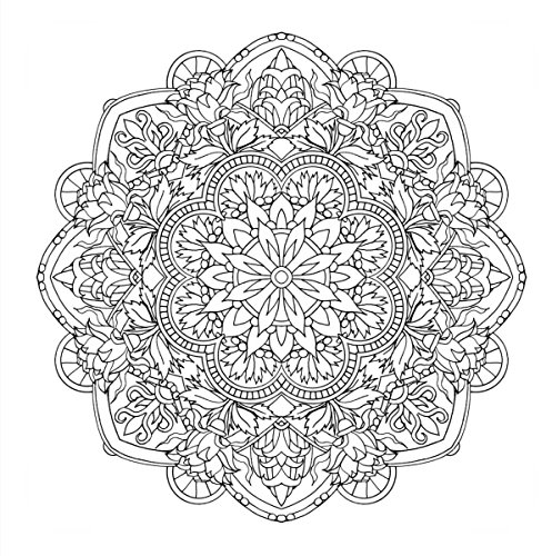 Flower Mandalas 心を整える花々のマンダラぬりえ