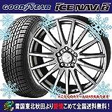 【14インチ】 スタッドレス 155/55R14 グッドイヤー アイスナビ6 共豊 ザインレーシング タイヤホイール4本セット 国産車
