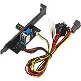 Homyl 3チャンネル3ピンPCクーラー冷却ファン速度コントローラーPCIブラケット12V電源 ケースファンスピードコントローラー