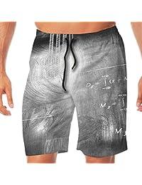 メンズ水着 ビーチショーツ ショートパンツ 数学物理方程式 スイムショーツ サーフトランクス 速乾 水陸両用 調節可能