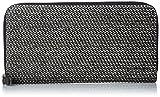 ブラック×ホワイト メンズ ジップラウンド 長財布 CASH-MACHINES 24 ZIP - wallet X04453PR080 H1532 UNI