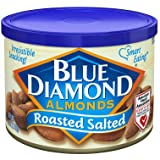 Blue Diamond Almonds, Roasted Salted, 6 Ounce (Pack of 12)