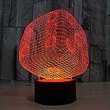 youzone Magicalパネル3d光学式ビジュアル化イリュージョン7色変更USBタッチスイッチテーブルランプBulbing LEDライト夜間照明ホーム装飾家家庭用ライト(ホワイト) Dé