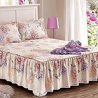 YKFN シングル ベッドカバー コットン ベッドスプレッド ベッドスカート エレガント ベッド掛け シンプル おしゃれ 寝具 シーツ