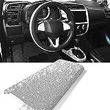 YGMONER 9000pcs Bling Crystal Rhinestone 9.4 x 7.9'' DIY Car Decoration Sticker Sliver