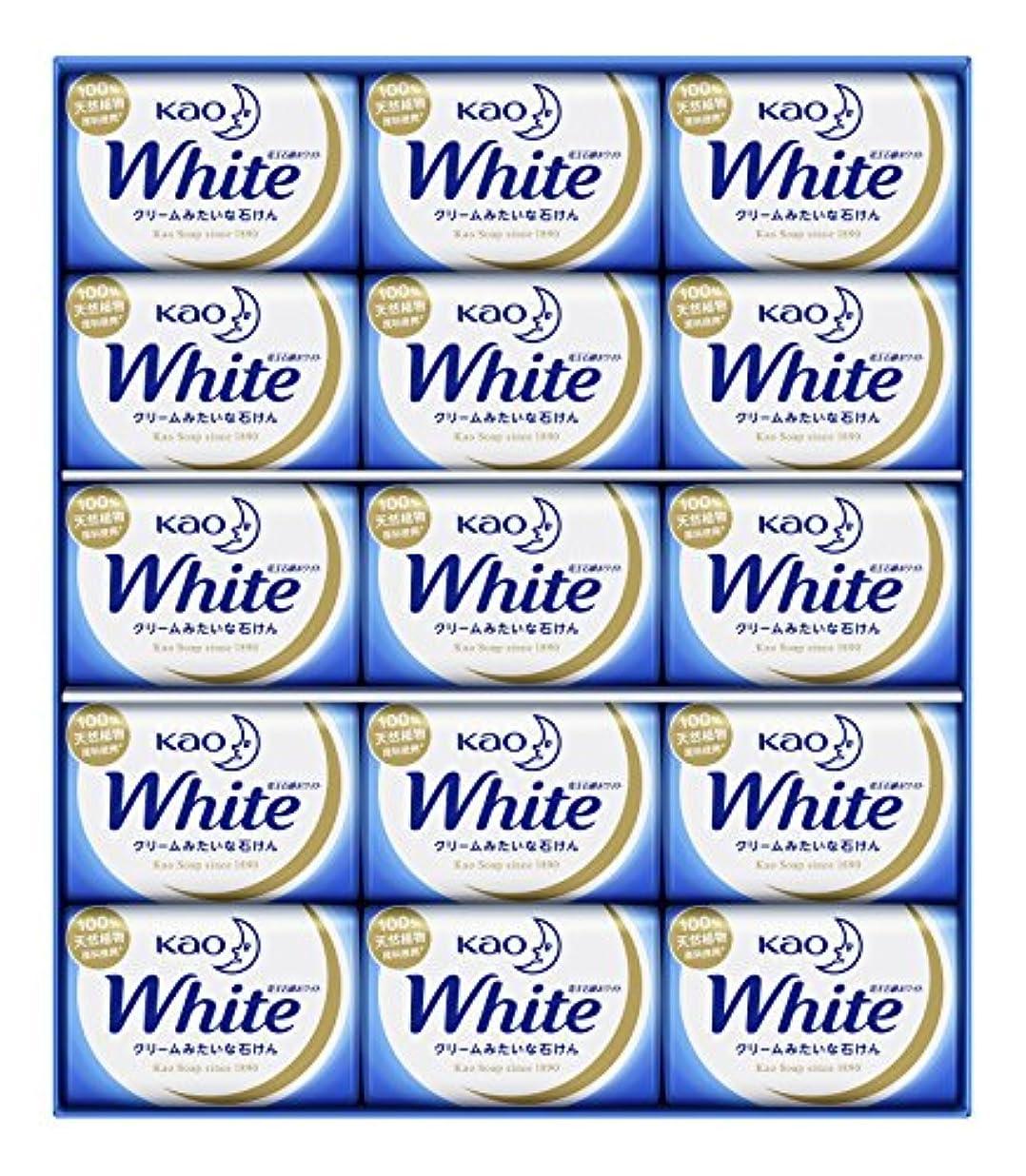 抑制してはいけない屋内で花王ホワイト ギフト 85g 15コ K?W-15