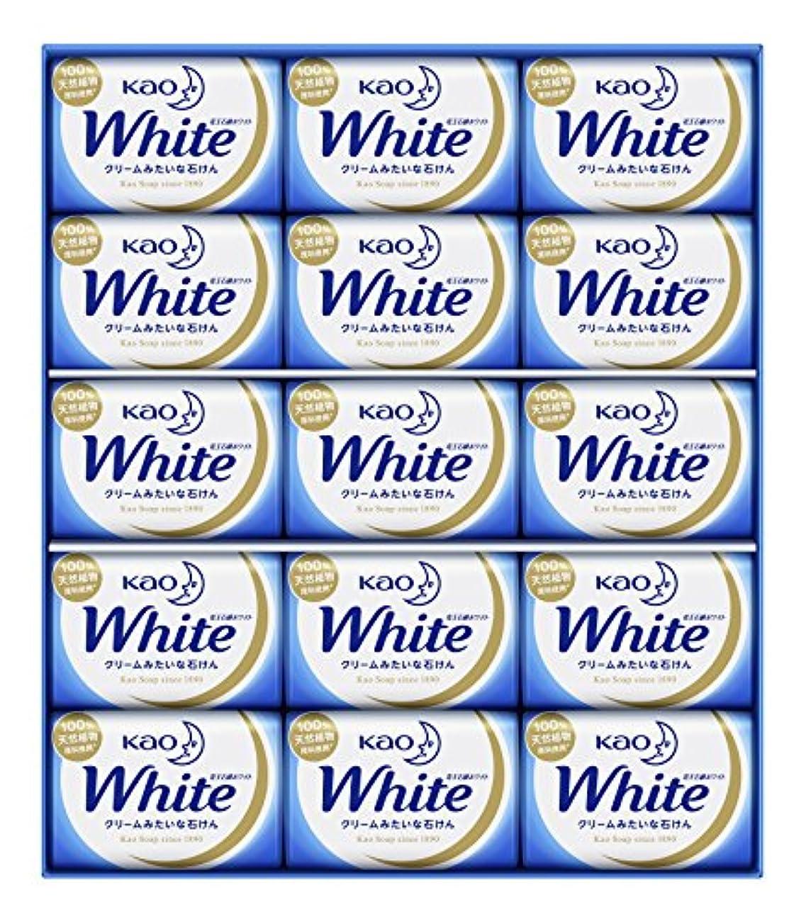 抑制するスーパーマーケット縞模様の花王ホワイト ギフト 85g 15コ K?W-15