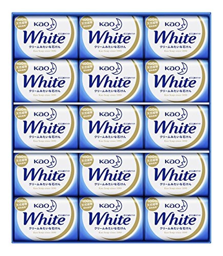 いいね素朴なホイスト花王ホワイト ギフト 85g 15コ K?W-15