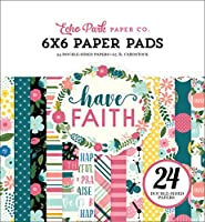 Echo Park Paper Company HAF152023 Have Faith 6x6 Paper Pad, Purple, Pink, Mint Green, Teal, Coral