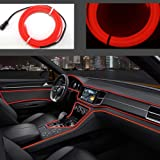 San Jison El Wire 5m/16ft Led Flexible Soft Tube Wire Lights Neon Glowing Car Rope Strip Light Xmas Decor DC 12V for Car Offe