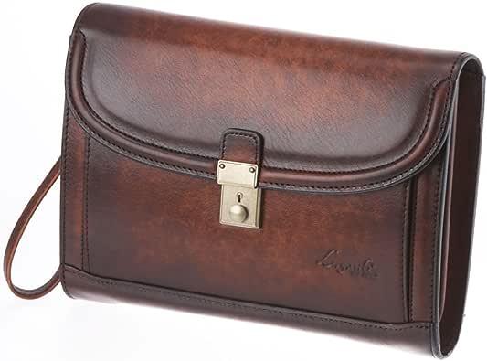 LuggageAOKI 青木鞄 Lugard G3 ラガード ジースリー フラップ クラッチバッグ セカンドバッグ 日本製 本革 ブラウン 5217-50