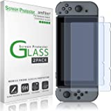 amFilm Nintendo Switch Screen Protector (2 Pack), Premium Tempered Glass Screen Protector for Nintendo Switch
