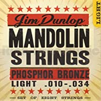 Dunlop DMP1034 Mandolin Strings Phosphor Bronze Light .010?.034 4 Strings/Set [並行輸入品]