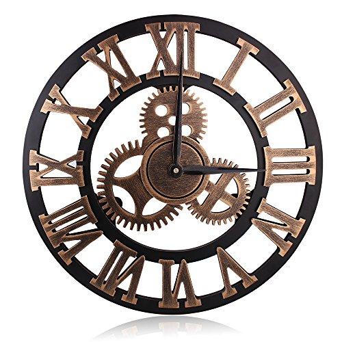 レトロ アンティーク 掛け時計 室内時計 壁掛け時計 木製 静音 おしゃれ 見やすい 防湿防虫