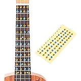 HOT SEAL Ukulele Finger Guide Sticker Fingerboard Guide Fretboard Marker Label Finger Chart for Practice Beginners (Colorful)
