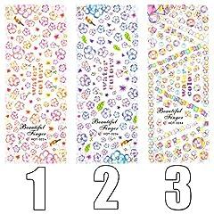 ウォーターネイルシール 水彩風 選べる20種類 極薄・重ね貼りOK (14-X56)