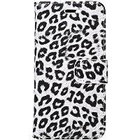 アイフォン 8 iphone 7 ケース かっこいい ヒョウ柄 手帳型 アイホン8ケース アニマル柄 虎 豹 ホワイト amo2205