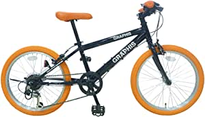 GRAPHIS(グラフィス) 子供用自転車 クロスバイク 20インチ 22インチ 24インチ 6段変速 スキュワー式 ジュニアサイクル キッズサイクル GR-001KIDS20/22/24