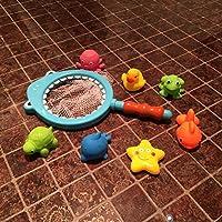 HuaQingPiJu-JP 7個のPCSの子供の漫画のセットかわいい動物のバスタブ浴室の浴場の砂利のおもちゃの水遊びのおもちゃ