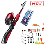 Kids Fishing Pole and Reel Combo Kit – Fun Fishing Spincast Gear for Boys and Girls – with Tackle Box, Fully Equipped