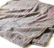 Bloom 今治毛巾 认证 使用丝带 条纹 使用残丝 毛巾 厚 四季通用 日本制造 (单人尺寸)