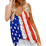 yacn Womens Floral Sleeveless Blouse Sexy Floral Printed Tank Tops Vest Summer Casual Loose V-Neck Sleeveless Shirts
