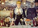絵画風 壁紙ポスター(はがせるシール式) エドゥアール・マネ フォリー=ベルジェール劇場のバー 1882年 コートールド・ギャラリー キャラクロ K-MNT-003S2 (594mm×431mm) 建築用壁紙+耐候性塗料