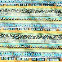 goupgolboll-自由奔放に生きるエスニックスタイルのコットンリネンテーブルクロステーブルデスクカバーキッチンデコレーション - グリーン60cm x 60cm