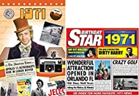 1971 Birthday Gifts Pack - 1971 DVD Film , 1971 Chart Hits CD and 1971 Birthday Card