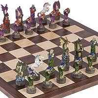 Fantasy Chessmen & Stuyvesant Street Chess Board by