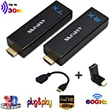 measy W2H Nano Wireless uncompressed Mini HDMI Extender Transmitter and Receiver up to 30m/100feet Plug and Play Without Comp