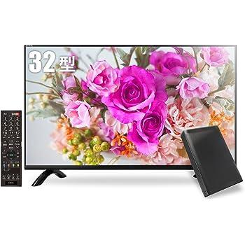 【数量限定】 《外付けHDD・同軸ケーブル同梱版》 MARSHAL 32型 ハイビジョン液晶テレビ HDD録画対応 留守録機能 東芝基盤採用 ブラック MAL-FWTV32-SET