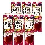 【国産ワイン売上NO.1】サントリー 酸化防止剤無添加のおいしいワイン。 赤[ 赤ワイン 1800mlx6本 ]