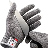 NoCry Cut Resistant Gloves - High Performance Level 5 Protection, Food Grade. Size Large, Free Ebook Included!
