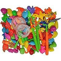 89個の磁気釣りプレイセット屋外の水と魚のおもちゃは子供の教育的な風呂用のおもちゃ