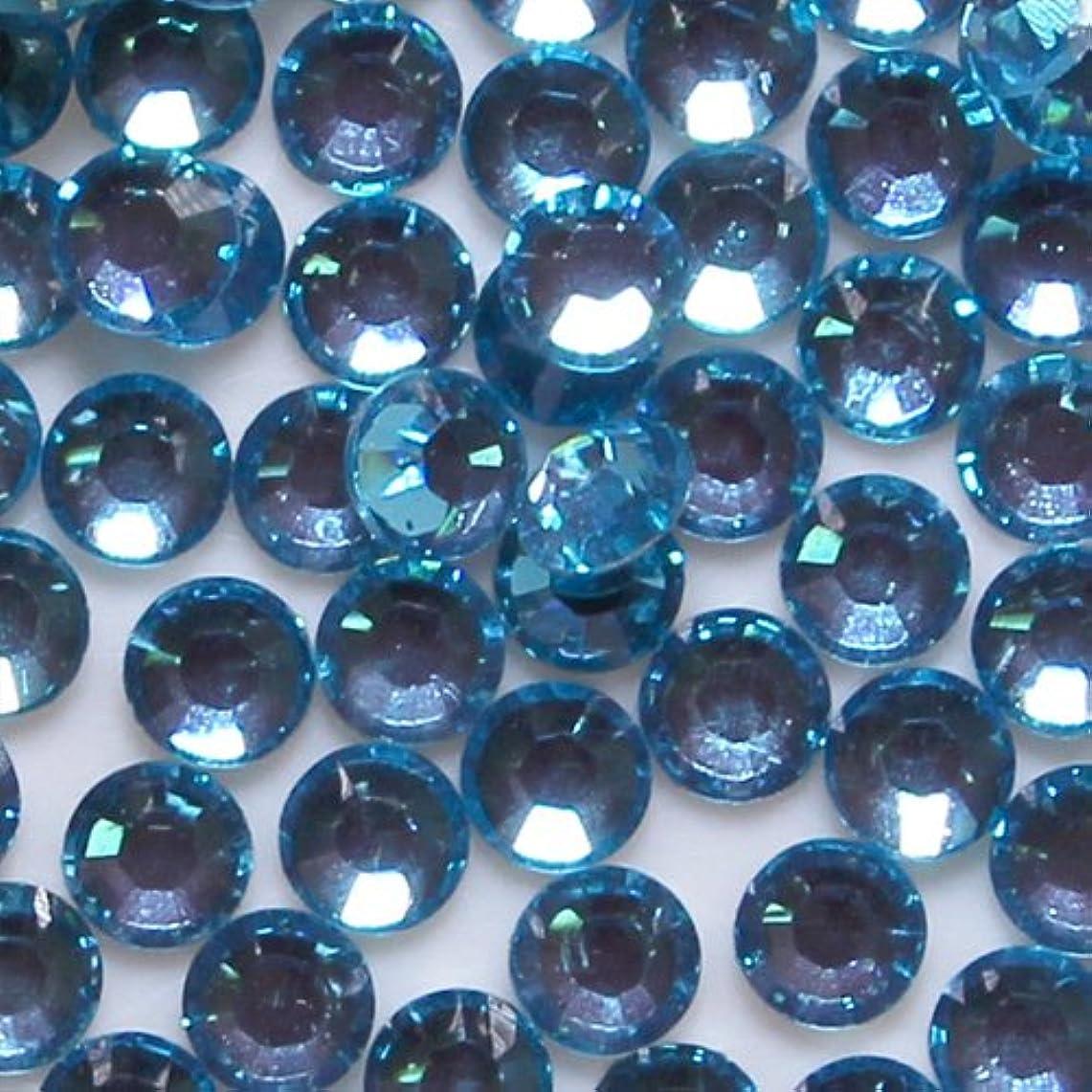 ナラーバークラウドホバー高品質 アクリルストーン ラインストーン ラウンドフラット 約1000粒入り 3mm ターコイズ