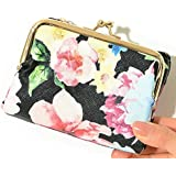 (ディーループ)D-LOOP 大人 かわいい 総柄プリント がま口 折りたたみ財布 ミニ財布 レディース S121758