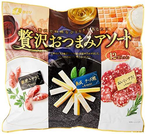 なとり 贅沢おつまみアソート(熟成チーズ鱈4袋、おいしいサラミ4袋、粗挽きサラミ4袋)