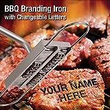 バーベキューやステーキのお肉に好きな文字の焼印が押せる! BBQ Branding Iron with Changeable Letters