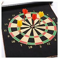 安全Dart Board Game Roll Up両面リバーシブルBullseyeターゲットと磁気Dartboardダーツforキッズ( 54cm X 32cm