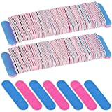 300 Pack Disposable Nail Files Double Sided Emery Boards Manicure Pedicure Tools