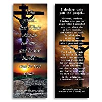 Favorite Bible Verses 私はあなたがたに福音を伝える - カード25枚パック - 5.1 x 15.2cm(2x 6インチ)