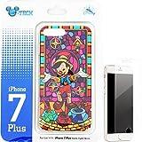 【ディズニー】 Disney ピノキオ iPhone7 Plus ステンドグラス ハードケース ガラスフィルム付 香港 HKDL 海外ディズニー限定