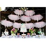 Originals Group Tutu Table Skirt,Baby Pink Tulle Tutu Table Skirt Decor, Birthday Event Wedding Party Decoration (Mini Pink T
