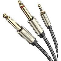 UGREEN オーディオケーブル 3.5mm to 6.35mm 変換ステレオミニプラグ 2分配 trs ケーブル オス…