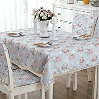 テーブルクロス 食卓カバー テーブルマット 花柄 綿麻 かわいい おしゃれ 田園風 長方形 正方形 ラウンド キッチン用品 180*180cm
